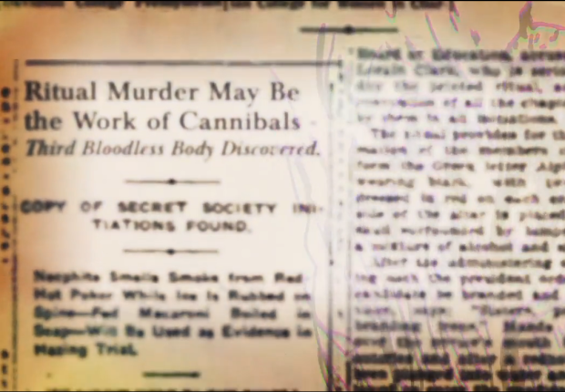 This newspaper clipping was in Alpha Girls' opening credits!