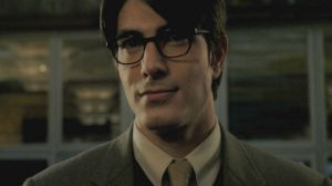 Brandon Routh as Superman in the guise of Clark Kent.