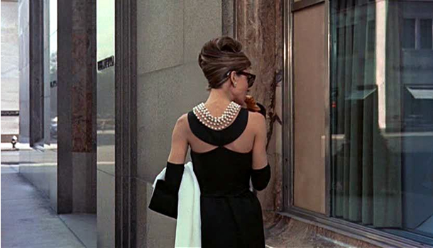 Eating breakfast at Tiffany's.